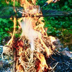 焚き火、たたき、花火&サップ