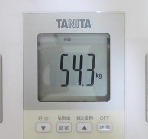 6/25 【54.3kg】 チートデイ7日後