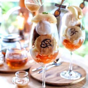 カフェ旅で行きたい古民家レストラン!3種ジェラートと桃のパフェ!【ナラヤマソウ】