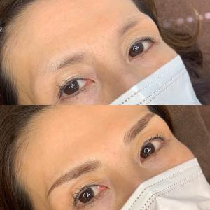 眉毛のアートメイク④ 4D\\\アートメイク すっごく素敵な仕上がりに大満足。