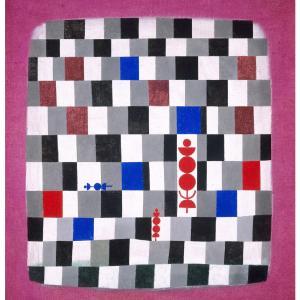 """パウル・クレー「スーパーチェス」は歴史感のある近代美術。Paul Klee """"Super Chess"""" is a modern art with a sense of history."""
