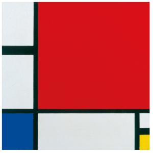"""ピエト・モンドリアン「赤、青、黄のあるコンポジション」Piet Mondrian """"Composition with Red, Blue and Yellow"""""""