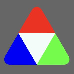 角の丸い三角形をCSSのみで作る方法