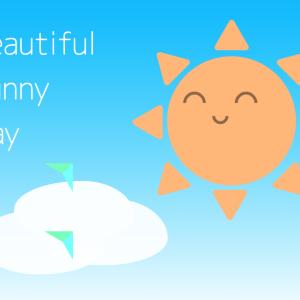 【CSS】晴れの日のアニメーション Beautiful Sunny Day