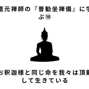 道元禅師の「普勧坐禅儀」について学ぶ⑩お釈迦様と同じ命を我々は生きている。