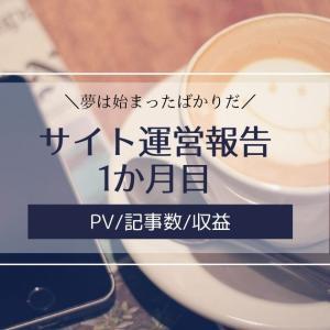 雑記ブログ・サイト運営報告1か月目