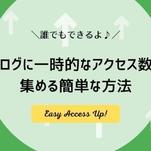 ブログに一時的なアクセス数を集める簡単な方法【1日4,000pvいきました♪】