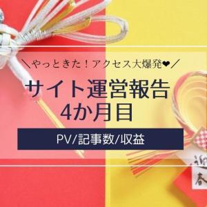 雑記ブログ・サイト運営報告4か月目【PV/記事数/収益】