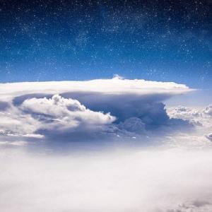 【気象】静岡県 巨大な「かなとこ雲」・画像