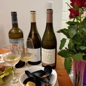 妻の誕生日イタリアワインに赤い薔薇