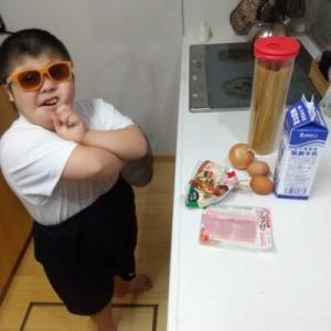 【親子クッキング1】ダウン症児カルボナーラを作る!