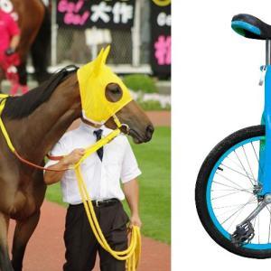 かんすけ⇒競馬、娘⇒一輪車