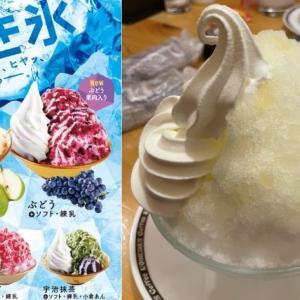 【コメダ珈琲】2021年のコメダ名物「かき氷」食べてみた!新登場は葡萄とラフランス