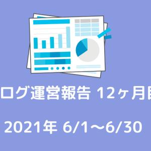 【ブログ運営報告】ブログを始めて12ヶ月が経ちました