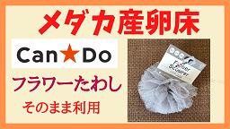 メダカの産卵床 100均ショップCanDoの「フラワーたわし」をそのまま利用!!