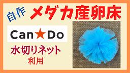 メダカ産卵床 自作 100均ショップCanDoの「水切りネット」を利用!!