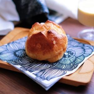 ワッフルシュガーでパン!それからこの夏初めての桃。