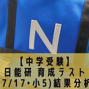 【中学受験】日能研 育成テスト(7/17•小5)結果分析