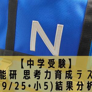 【中学受験】日能研 思考力育成テスト(9/25•小5)結果分析