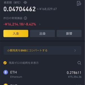 2021/6/8夜の仮想通貨資産報告