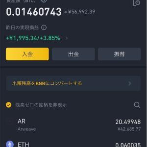 2021/6/20朝の仮想通貨資産報告