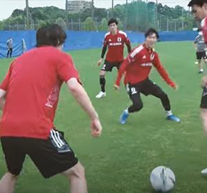 【動画】日本代表練習動画。長友、鎌田、伊東、浅野たちの鳥かごワンタッチパスが凄すぎる!