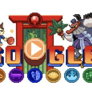 Googleトップページで東京五輪にちなんだゲームが楽しめる!主役は三毛猫ラッキー。『Doodle チャンピオン アイランドゲーム』