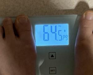 64,5kg  とほほ