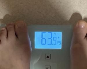 63,9kg おっ!