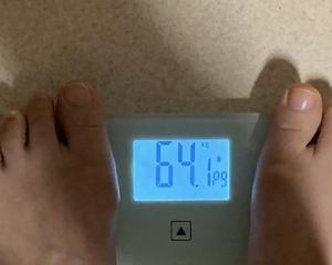 64,1kg もうちょい