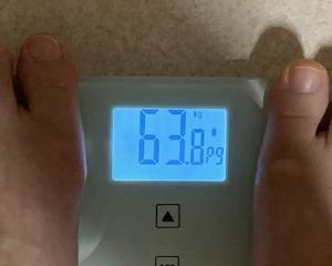 63,8kg よしよし