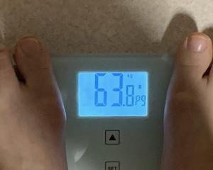 63,8kg おちつく