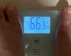 66,3㎏ ぎょえっ!