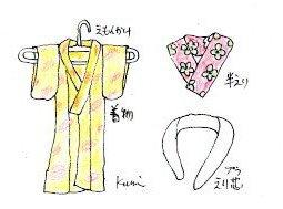 着物の着付け-長襦袢まで イラスト付き