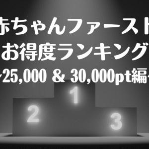 【子育て】「赤ちゃんファースト」のお得な引き換え商品ランキング(25,000pt~30,000pt)