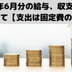 2021年6月分の給与、収支報告について【支出は固定費のみ】
