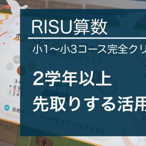 RISU算数9か月目レビュー 小1~小3コース完全クリア!