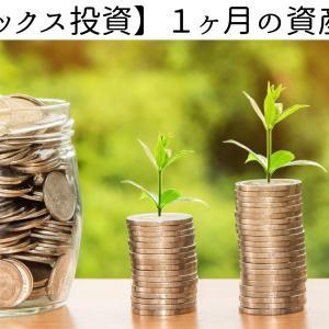 インデックス投資1ヶ月の資産額変動