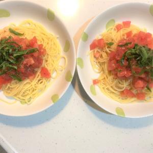 リュウジさんの丸ごとトマトそうめんをパスタで作ってみた