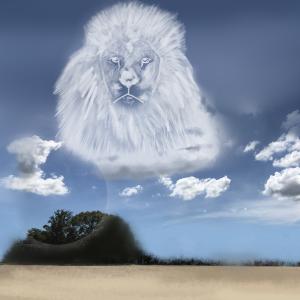【へびうさ】をさがせ!!不思議な空、今日の雲はライオンに見える