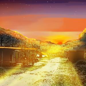 【へびうさ】をさがせ!夕焼けキャンプ。焚火をしよう