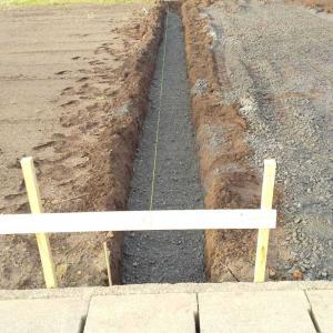 ブロック基礎部分全掘完了っっ。