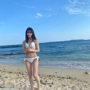 【NGT48】西潟茉莉奈(25)、太陽よりも眩しい白ビキニ姿公開!