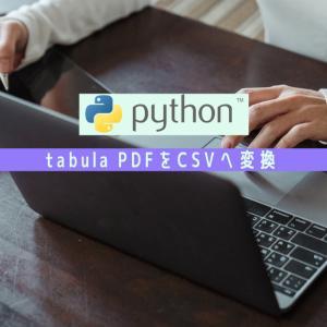 Python PDFをCSVへ変換 tabula