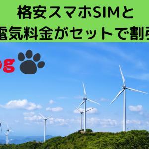 【モバイル】格安スマホSIMと電気料金がセットで割引!