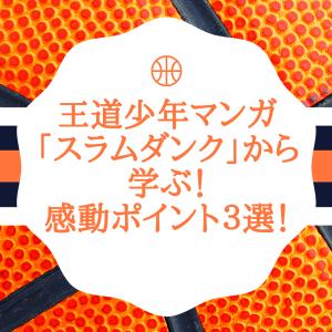 【ネタバレ注意】王道少年マンガ「スラムダンク」から学ぶ!感動ポイント3選!