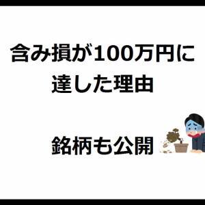 含み損が100万円に達した理由 銘柄も公開