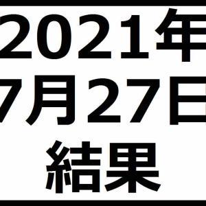 2021年7月27日結果 日経平均株価続伸