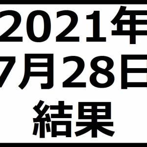 2021年7月28日結果 日本株軟調