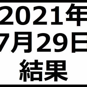 2021年7月29日結果 日経平均株価反発